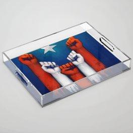 Puerto Rico power of the people Acrylic Tray