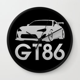 Toyota GT86 - silver - Wall Clock