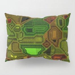 Technology Futuristic Computer Shapes Pillow Sham