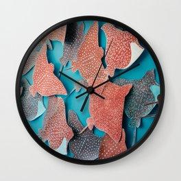 Stingray Swarm Wall Clock