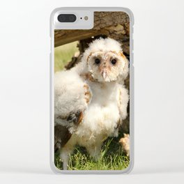 Cotton Owl Clear iPhone Case