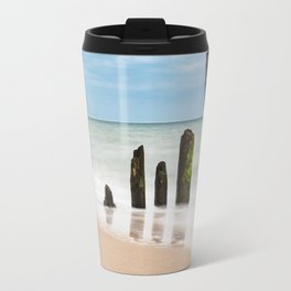 Groynes on the Baltic Sea coast Travel Mug