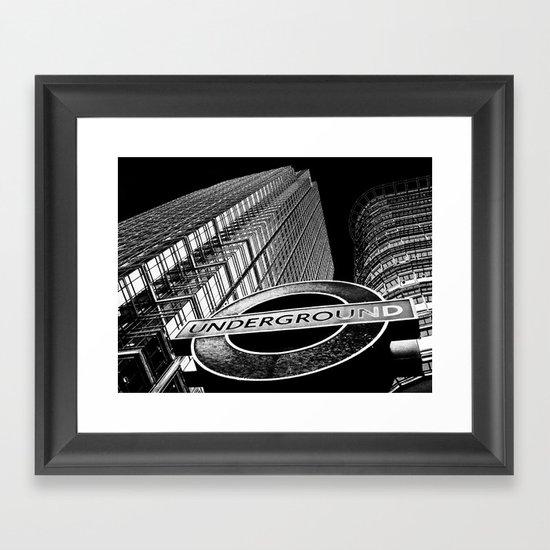 Canary Wharf  Art Framed Art Print