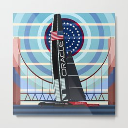 Never Give Up ! Oracle Team USA America's Cup Metal Print