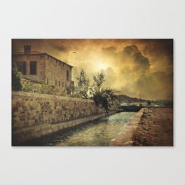 Searching the past Canvas Print