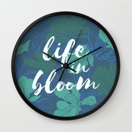 Life in bloom - mystery greens Wall Clock