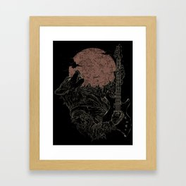 The Rock Werewolf Framed Art Print