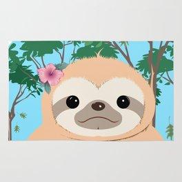 Cute Brown three toed Sloth Rug