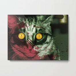 Zombie Kitty Metal Print