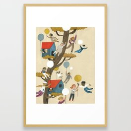 treehouse neighbours Framed Art Print
