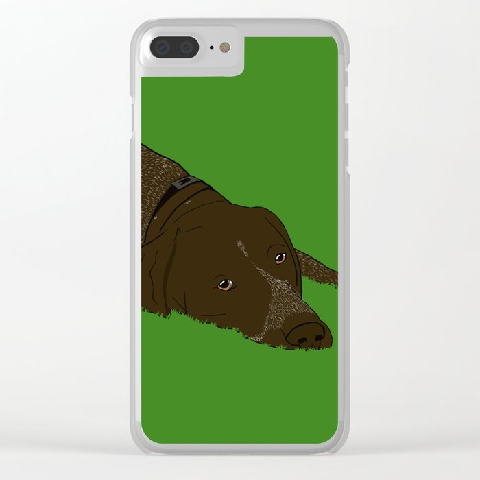 German Shorthaired Pointer Clear iPhone Case