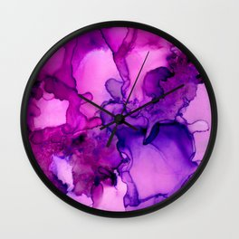 Achieve Grapeness-Pink and Purple Abstract Painting Wall Clock