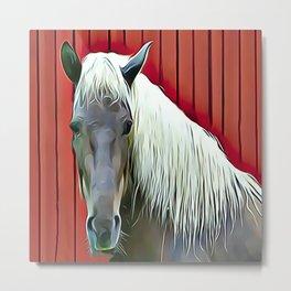 Icelandic Palomino Horse Metal Print