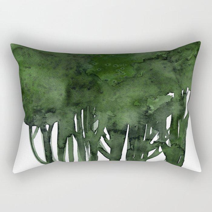 Tree Impressions No.1C by Kathy Morton Stanion Rectangular Pillow