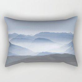 Blue Mountains in Dust - Photoadaption Rectangular Pillow