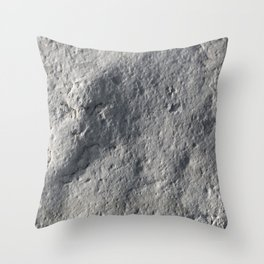 Rock Face Style Throw Pillow