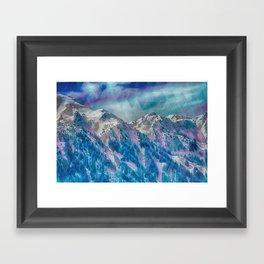Mountain Peaks Framed Art Print