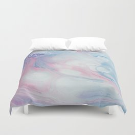 Fluid Cotton Candy Marble Duvet Cover