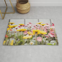 Gerber Daisies in Strawberry Lemonade  |  The Fresh Flower Collection Rug
