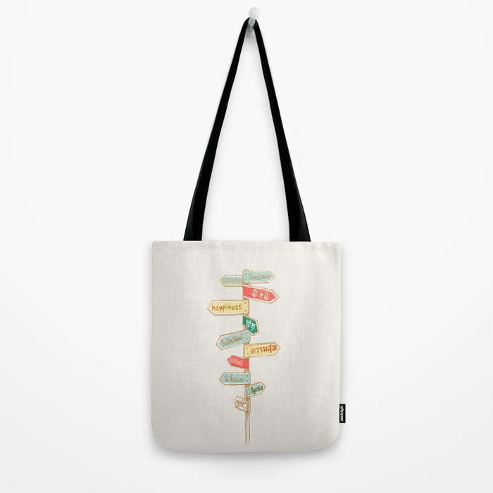 Happiness is everywhere Tote Bag