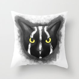 Rise of the planet of the cats Throw Pillow