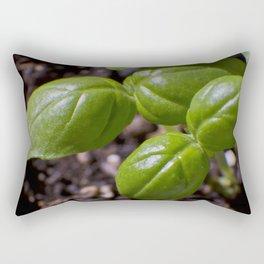 Basil new growth Rectangular Pillow