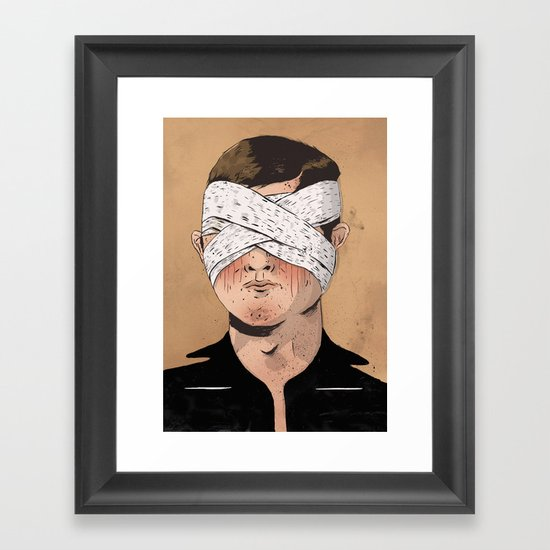 X-Ray Eyes Framed Art Print