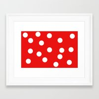 polka dot Framed Art Prints featuring Polka dot by Bubblemaker
