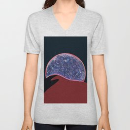 Desert night skies and moonlit dunes Unisex V-Neck