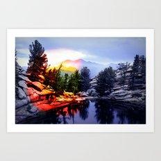 Colorado Flag/Landscape Art Print