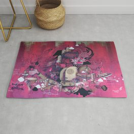 Dont Worry - Party Hard (Pink) Close Up Rug