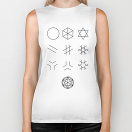 The Story of Geometry Biker Tank