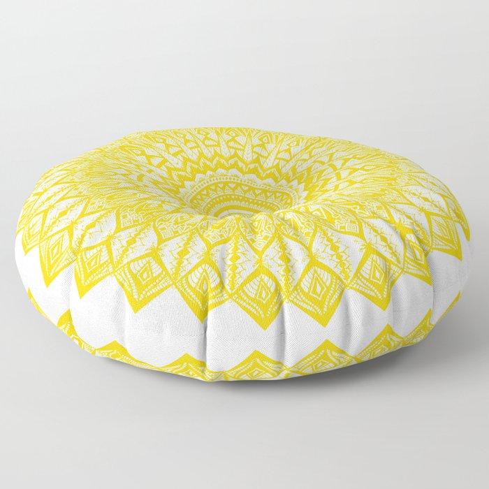 Sunshine-Yellow Floor Pillow