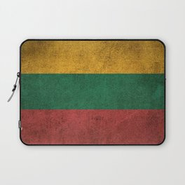 Old and Worn Distressed Vintage Flag of Lithuania Laptop Sleeve