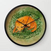 death cab for cutie Wall Clocks featuring cutie by 1ena