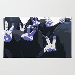 Blue Ink Victory Rug