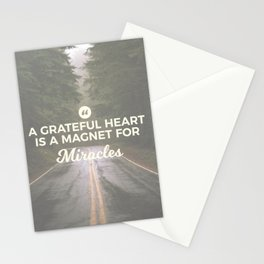 Grateful Heart Miracle Magnet Stationery Cards