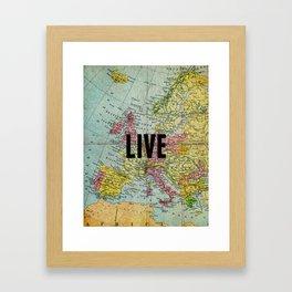 Live Print Framed Art Print
