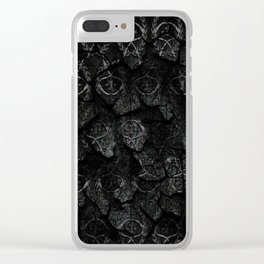 Scythe pattern Clear iPhone Case