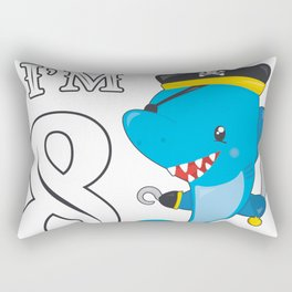Pirates 8th Birthday Party 8 Years Shark Gift Idea Rectangular Pillow