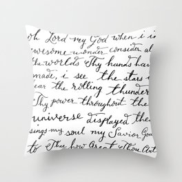 How Great Thou Art. Throw Pillow