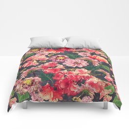Vintage Flowers and Bees Comforters