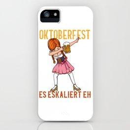Funny Oktoberfest Dirndl T-Shirt iPhone Case