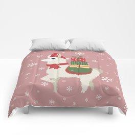 Cute Christmas Llama Comforters