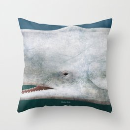 Herman Melville's Moby-Dick - Literary book cover design Throw Pillow