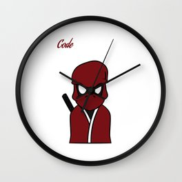 """""""Code Ninja Computer Coding"""" for computers codes and word-press addicts like you and your friend!  Wall Clock"""