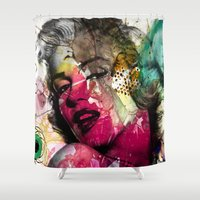 monroe Shower Curtains featuring marilyn by mark ashkenazi