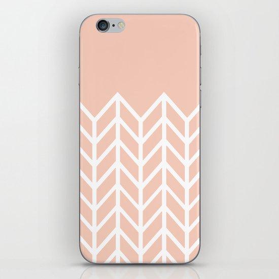 LACE CHEVRON (PEACH) iPhone & iPod Skin