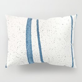 Parallel Universe [vertical]: a pretty, minimal, abstract piece in lines of vibrant blue and white Pillow Sham