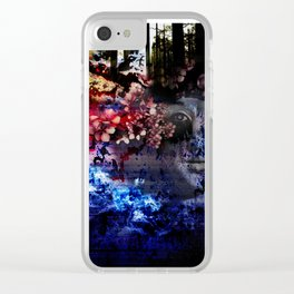 Weather Changing Woman Clear iPhone Case